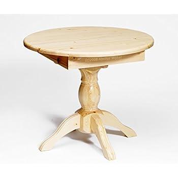 Esstisch ausziehbar rund  Esstisch Tisch Holztisch ausziehbar rund Ø 80 (+25) Kiefer massiv ...