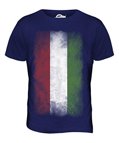 CandyMix Ungarn Verblichen Flagge Herren T Shirt Navy Blau