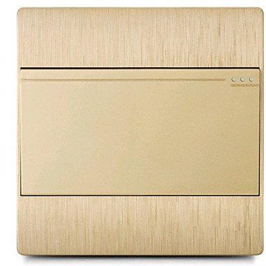 Champagner-Gold Zeichnung S70 Doppelschaltersteuerung Großhandel Schaltsteckdose öffnen arbeitet Steckdose / drei Paket zum Verkauf