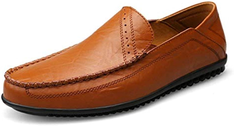 Qiusa Slip-on Solidi semplici da Uomo di Boy's Marronee Marronee Marronee Casual Penny Loafers UK 10 (Coloreee   -, Dimensione   -) | Alta Qualità  cba2d9