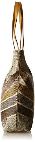 GATTINONI Damen Gacpu0000106 Schultertasche, 10 x 35 x 40 cm Beige (Deserto)