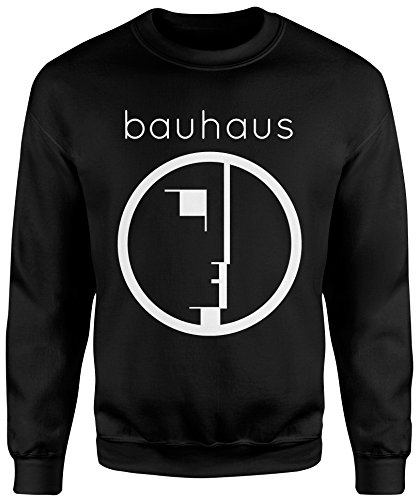 LaMAGLIERIA Unisex-Sweatshirt Bauhaus - Set-In Sweatshirt, L, Schwarz