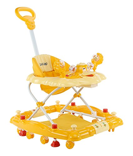 LuvLap Comfy Baby Walker with Rocker - Light Yellow