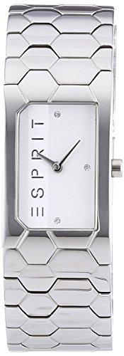 Esprit Damen-Armbanduhr Es-Houston Hexa Analog Quarz Edelstahl ES107882001