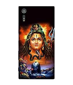 Fuson Designer Back Case Cover for Sony Xperia XZ :: Sony Xperia XZ Dual F8332 (Ganesha Maa Ganga Rudra Bhole Nath Mahadev)