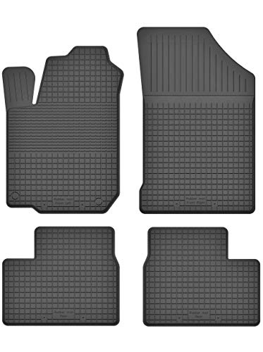 Premium Gummifußmatten mit 15mm Rand - Automatten Fußmatten geeignet für Toyota Prius II | X514-U_C-24 EIN Set