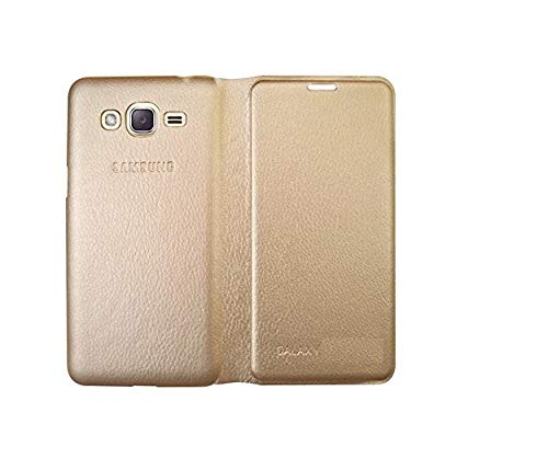 COVERNEW Leather Flip Cover for Samsung Galaxy J5  Old 2015 Edition    Pumpkin Gold LD Flipp SamJ5 15  Gold