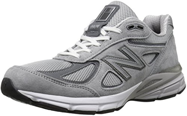 New Balance Hombres Zapatillas 990v4 Zapatos NUEVO 2016, Grey/Castle Rock, 45 2E