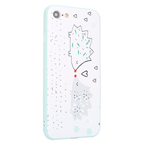 Ukayfe Custodia per iPhone 7/8,UltraSlim TPU Gel Gomma Silicone Copertura Case per iPhone 7/8,Moda Serie Pattern Back Cover Crystal Strass Skin Custodia Stilosa custodia di design Protettiva Shell Cas Modello carino 4#