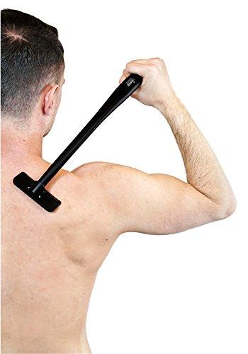 Sunny Sunday Herren Rückenrasierer/Körperrasierer für Schultern, Rücken und Beine, Rasierbügel zum nass und trocken rasieren mit langer Teleskopstange und Reinigungsbürste