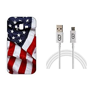 Designer Hard Back Case for Samsung Galaxy J2 with 1.5m Micro USB Cable