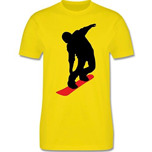 Wintersport - Snowboard Brettl - Herren Premium T-Shirt Lemon Gelb