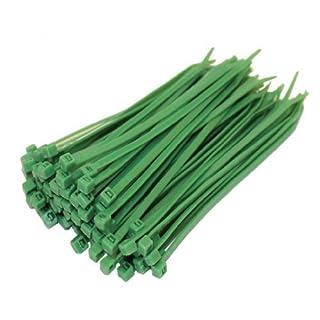 All Trade Direct Kabelbinder, 100 x 2,5 mm, alle Größen, 100 Stück grün