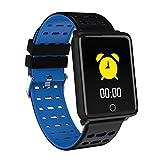 NICERIO F3 Smart Band Monitor della frequenza cardiaca Sleep Monitor Sport Tracker Guarda la Pressione sanguigna Smartwatch Schermo a Colori Wristband Impermeabile (Blu)