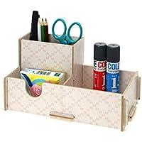 Super UD multifunzione fai da te in legno casa ufficio scrivania Storage makeup organizer portagioie contenitore della penna Holder Type1 - Desktop Hanging File