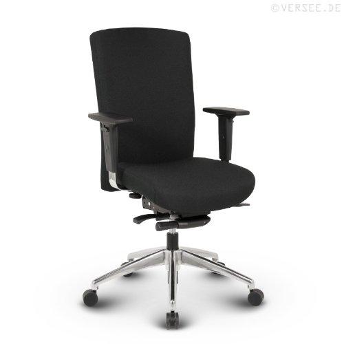 Versee Stoff Design Profi Drehstuhl Bürostuhl Terox low back schwarz