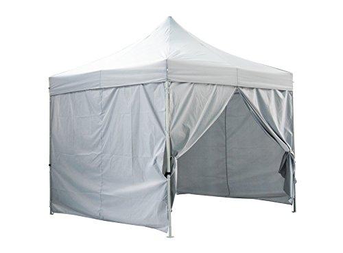 Greaden tenda pieghevole con quattro muri premium 3x 3m light tube 32mm in acciaio pieghevole tendone–bianco gr-1fam33420ao1