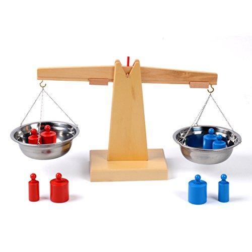 youmiya Spielzeug Montessori Holz Balance Beam Wiegefläche Sinnliche Frühkindliche Bildung Training