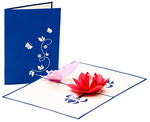 Grußkarte mit Schmetterling und Blüte, 3D Pop up, handgefertigt, Karte zur Geburt, Geburtskarte, Liebe, Grußkarten, Geburtstagskarte, Glückwunschkarten, Valentinstag, Valentinstagskarte, Karte zur Verlobung, Verlobungskarte, Karte zum Geburtstag, Frühling, Sommer, Glückwunschkarte