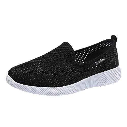 gsaktiv Netz Keilabsatz Schuhe Leicht Laufschuhe Fitness Laufen Freizeitschuhe Mode Frauen Luftpolster Plateauschuhe schütteln Schuhe Slip Sport Turnschuhe ()