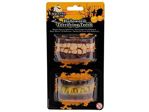 ster Gebiss Horror Grusel Faule Schiefe Zähne von Alsino, Variante wählen:P974010 Gebiss Set 3 (Halloween Faulen Zähnen)