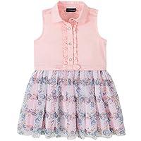 Calvin Klein Baby Girls' Dress, Pink/Print, 24M