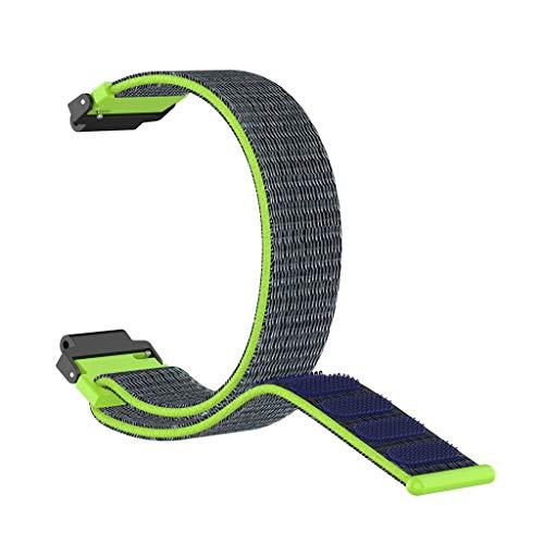 TianranRT★ Universalarmband Für Uhrenarmband Nylon Sportschlaufe Für Garmin Forerunner 220 230 235 630 620 735, Nylonschlaufe, Grün