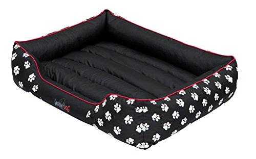 Hobbydog PRELCZ1 Hundebett Hundesofa Hundekorb Tierbett Prestige mit Pfoten, Größe XL, 85 x 65 cm, schwarz (Woven Hundebett)