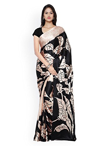Veronika Closet Women's Partywear Bollywood Designer Georgette Printed Saree With Blouse Material
