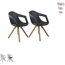 I Flair® Set Esszimmerstuhl / Sessel / Küchenstuhl MIT ARMLEHNE Aus Holz  Mit Sitzschale