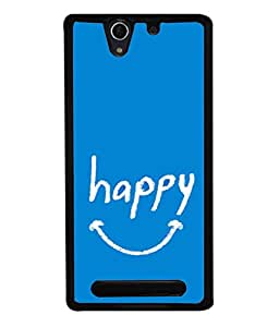 Fuson Designer Back Case Cover for Sony Xperia C3 Dual :: Sony Xperia C3 Dual D2502 (Smiling Laugh Art Pleased Jyful Cheerful)
