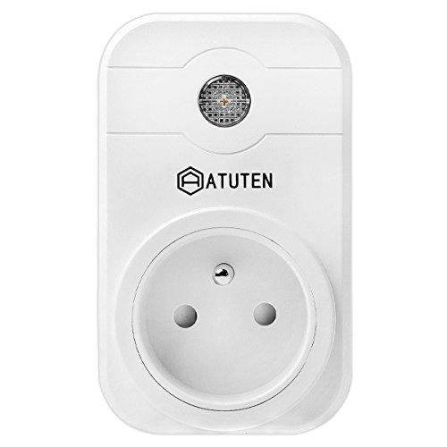 ATUTEN Intelligente Steckdose WiFi, Smart Socket Kompatibel mit Google Home/Amazon Alexa Entfernung WiFi-Timer Gebäudetechnik No Hub erforderlich