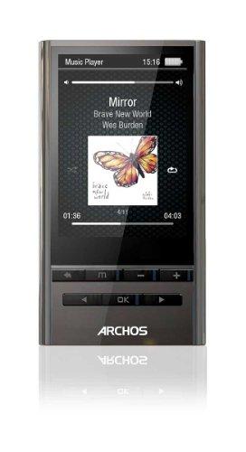 Archos 24y vision Player MP3-Player mit Yamaha Sound Technologie (8 GB, 6,1 cm (2.4 Zoll) Farb-Display, FM-Radio, Mikro) silber Ogg Avi Converter