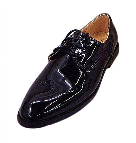 Kinderschuhe Festliche Jungen Schuhe Lackschuhe Kommunion Hochzeit Gr. 19 bis 36 Schwarz Oder Weiss, Grössen Schuhe:28;Farbe:Schwarz