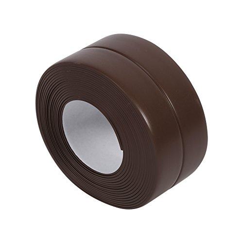Striscia sigillante per guarnizione a parete da 3,2 metri, nastro adesivo sigillante per lavello cucina, bagno, vasca, bordi, impermeabile, decorativo, in pvc flessibile, a prova di muffa, striscia sigillante per tenere puliti angolo parete e controsoffitto brown(38mm*3.2m)
