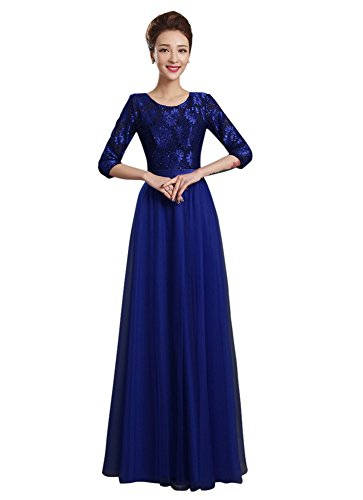 Drasawee - Robe - Taille empire - Femme Bleu Marine
