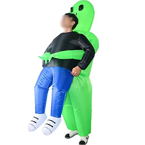 Ss Trucco Gonfiabile Verde del Vestito del Costume del Fantasma del Costume Divertente Gonfiabile Divertente di Halloween del Fantasma di Verde Gonfiabile del Fantasma