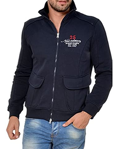 M.Conte Sweat-Shirt Veste manchez longues pour homme Ouray bleu foncé XXL