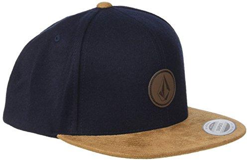 Volcom Herren Quarter Fabric Schwarz Cap-Snapback, Camper Blue, One Size