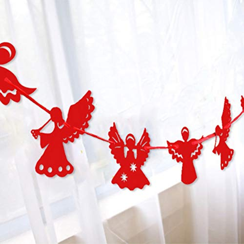 Maritown 3M Bunting Banner, Engel geformt Flagge Wimpel Girlanden personalisierte Gartenparty Dekoration für Begrüßung, Hochzeit, Weihnachten, Geburtstag, Baby-Dusche, Taufe