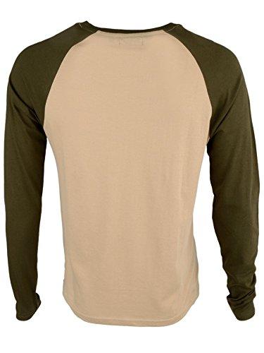 Brave Soul 'Osbourne' Herren Langarmshirt Baseball Shirt Pilz