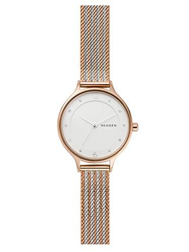 Skagen Damen Analog Quarz Uhr mit Edelstahl Armband SKW2749