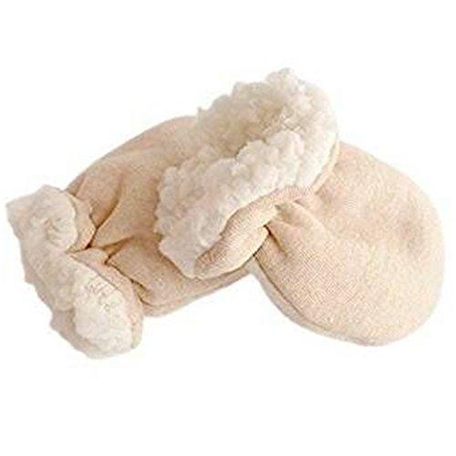 Winter Baby golves Kinder Fäustling Organic Cotton Imitation Kaschmir Anti Scratch Warm Glove verdicken für (0-6 Monate)...