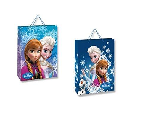 takestop® Geschenktüten aus Carton-Muster, Motiv: Die Eiskönigin Disney Prinzessinnen ELSA Anna Olaf Geschenktüten für Feste Geburtstag