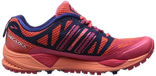 Brooks Cascadia 10 W, Chaussures de Running Compétition Femme, Red Flamingo/Blueprint/Creamsicle