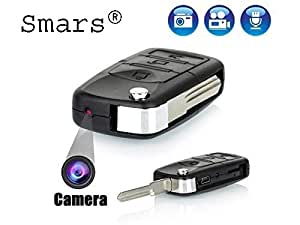 Smars® Full HD 1080P Spy Keychain Mini Camera Car Keychain with IR Night Vision Video Recording & Motion Detection