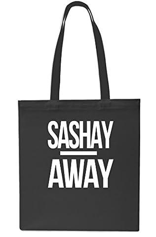 Sashay Away Tote Shopping Gym Beach Bag 42cm x38cm, 10 litres-Black