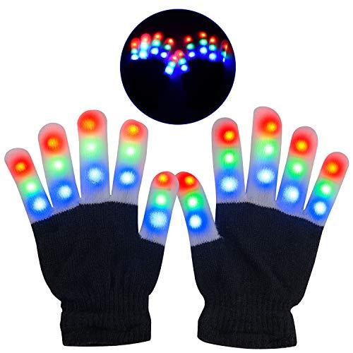 Guantes LED, Guantes Mano Iluminados, Dedos Parpadeantes