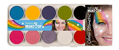 KREUL Fantasy 37074 Aqua Make Up Schminkkasten mit 10 Farben und 2 Pinseln (Halloween Fantasy Make Up)