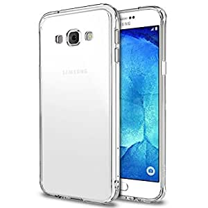 Rearth Ringke FUSION (Crystal View) New Dust Free Cap & Active Touch Tech (FREE HD Screen Protector) Clear Shock Absorption TPU Drop Protection for Galaxy A8